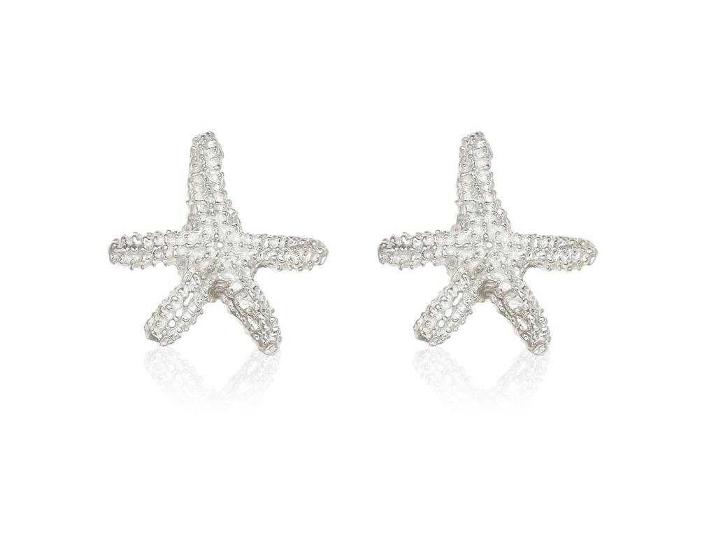ed01d5940f0e SB17 Pendientes de plata de primera ley estrella de mar