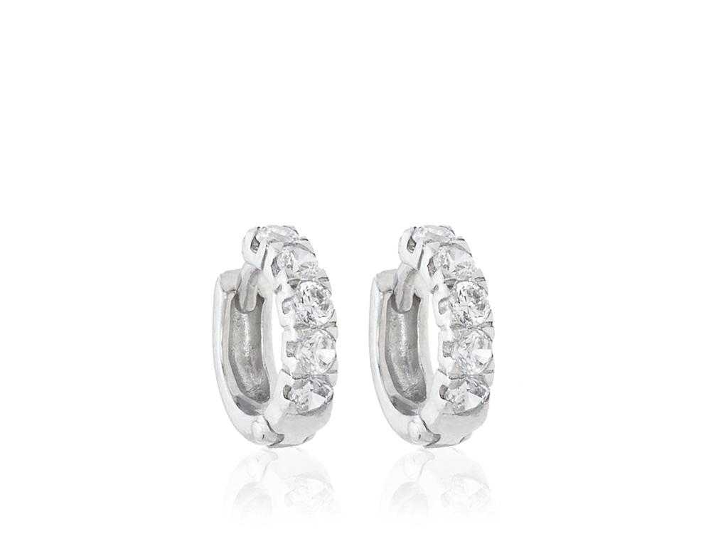a4892f9d8eb6 Pendientes de oro blanco y diamantes aros pequeños