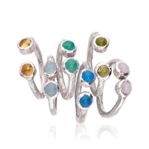 Conjunto dos piedras anillos